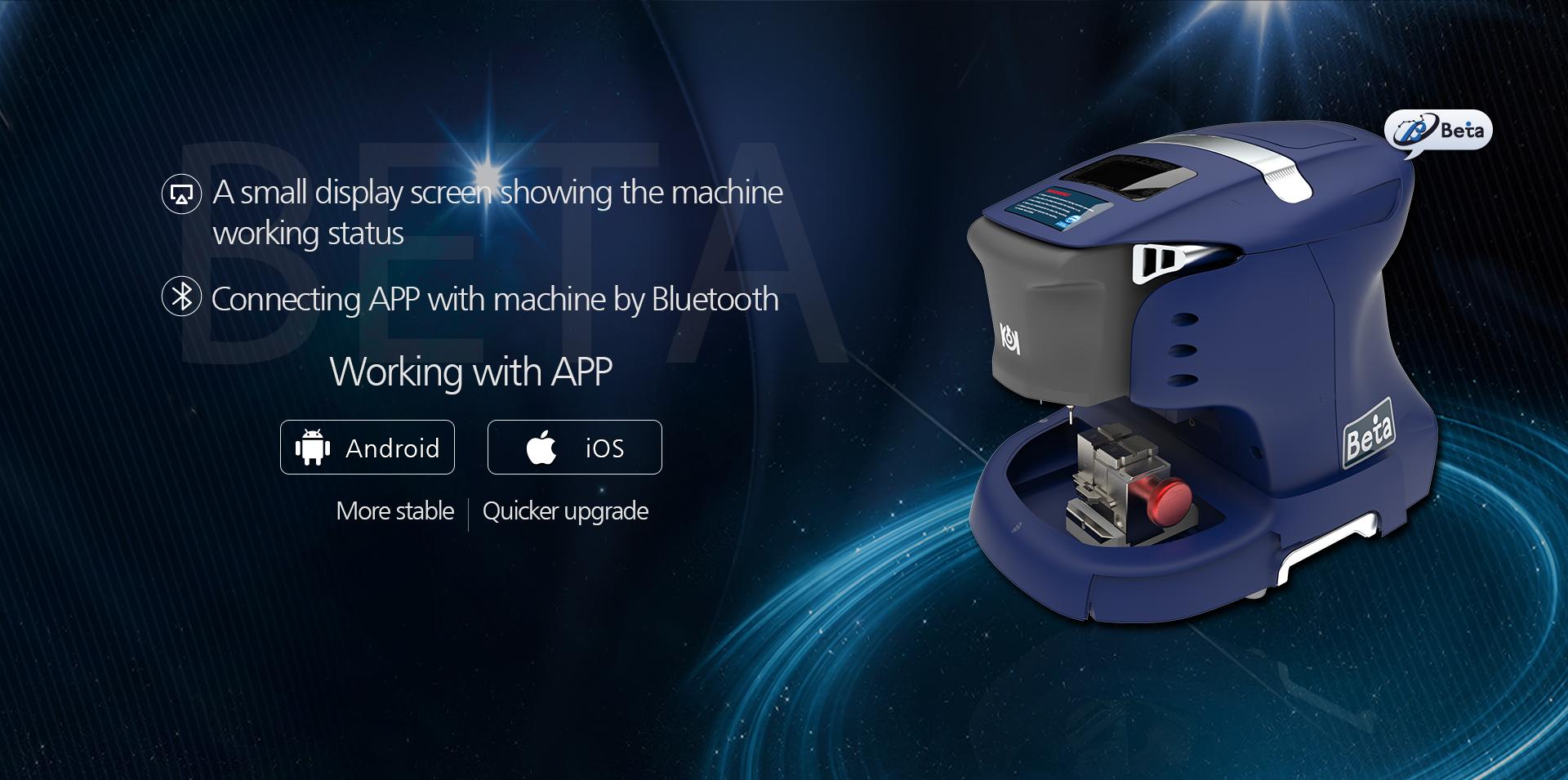 Beta key cutting machine